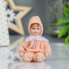 "Collectible ceramic doll ""Girl in overalls"" 9 cm MIX"
