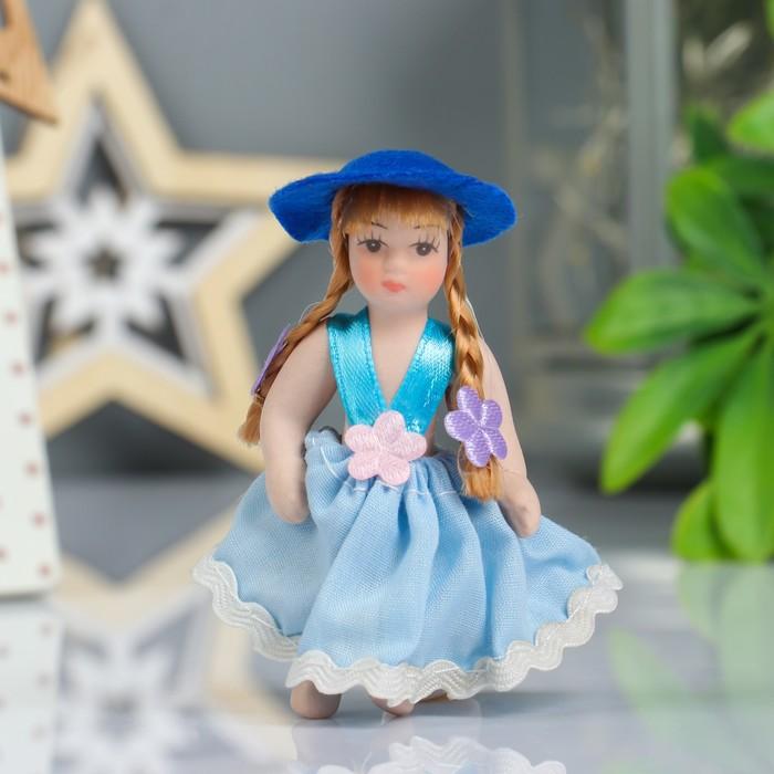"""Кукла коллекционная керамика """"Малышка в сарафанчике"""" 9 см МИКС"""