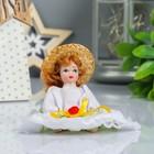 """Кукла коллекционная керамика """"Малышка в светлом платье с оборочками"""" 10,5 см МИКС"""