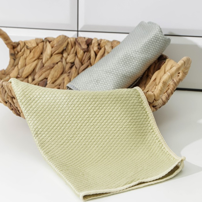 The cloth for glass 30x30 cm 250 grams, diamonds, MIX color