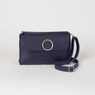 Bag, Department, zipper, adjustable strap, color blue
