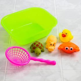 Набор резиновых игрушек для игры в ванной «Морские забавы», 6 предметов, цвета МИКС