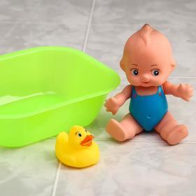 Набор для купания «Чистюля», 3 предмета, цвет МИКС