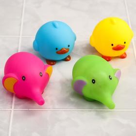 Набор игрушек для ванны «Кругляши», 4 шт.