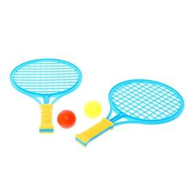 Набор ракеток «Крутой теннис», 2 ракетки, 2 шарика, цвет МИКС
