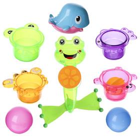 Игрушки для купания «Мистер Лягушонок», 8 предметов, на присоске