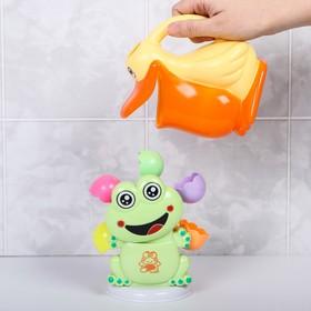 Развивающая игрушка - мельница для игры в ванной «Лягушонок и Пеликан», 2 предмета
