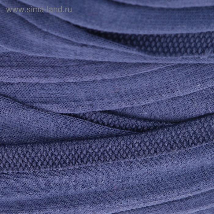 Пряжа трикотажная Maccaroni T-Shirt 100% хлопок 120м/650гр ширина 8-12мм (982 синий)
