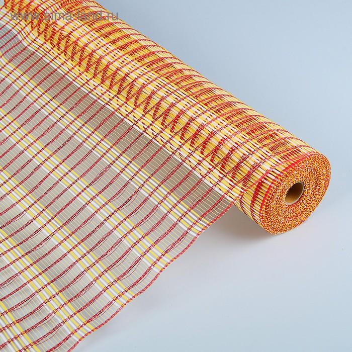 """Сетка """"Тонкин"""", красно-желтый, 0,54 х 9,1 м"""