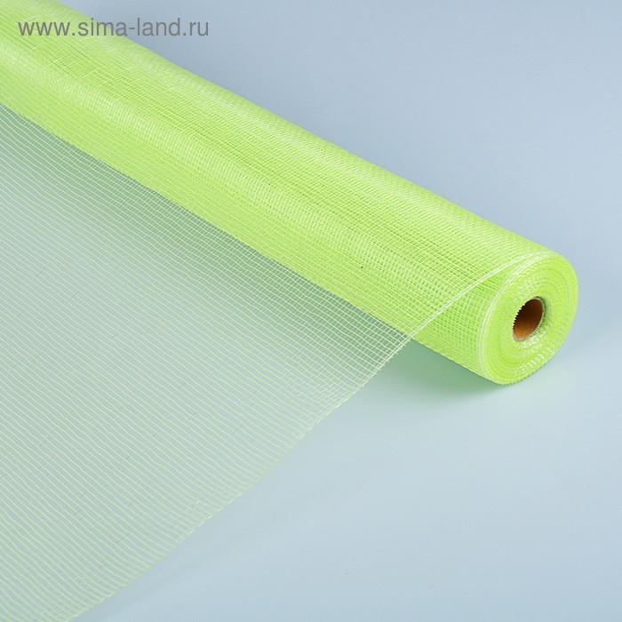 Сетка простая с блеском, зелёная, 0,54 х 9,1 м