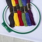 Набор для вышивания №6, 8 предметов: канва, мулине, пяльцы