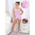 Пижама женская (майка, шорты) Фламинго-2 цвет розовый, р-р 42