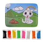 Аппликация шариковым пластилином, 8 цветов по 3 гр. МИКС   основа пластик