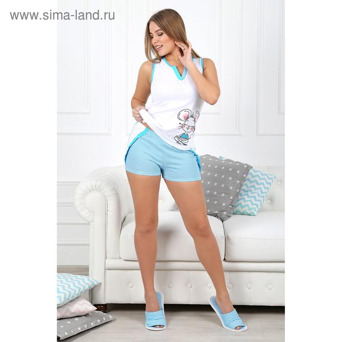 Пижама женская (майка, шорты) Гармония-3 цвет бирюзовый, р-р 52