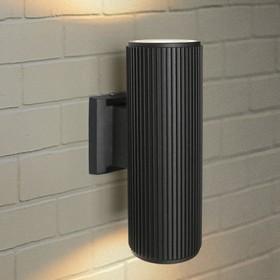 Светильник Elektrostandard садово-парковый, 2х60Вт, E27, IP54, настенный, Techno 1403 черный