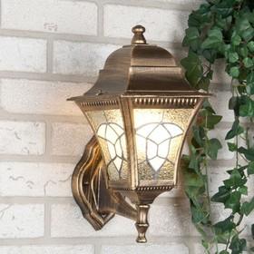Светильник Elektrostandard садово-парковый, 60Вт, E27, IP44, настенный, Altair черное золото
