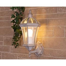 Светильник Elektrostandard садово-парковый, 60Вт, E27, IP44, настенный, Capella белое золото