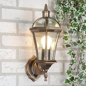 Светильник Elektrostandard садово-парковый, 60Вт, E27, IP44, настен., Capella черное золото