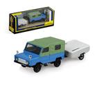 "Машинка ""ЛуАЗ-969М"", залёно-голубой, с прицепом Скиф-М, масштаб 1:43"