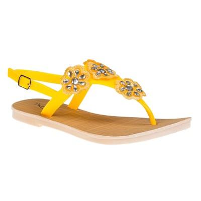 """Сандалии женские """"АЛМИ"""" арт. TH127-B5, цвет жёлтый, размер 41"""