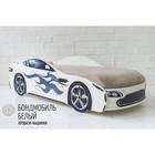 Кровать-машина «Бондмобиль» с матрасом, цвет белый