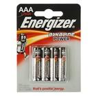 Батарейка Алкалиновая  Energizer Power E91, AAA, LR03-4BL, блистер, 4 шт.