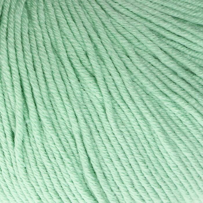 "Пряжа ""Baby Cotton"" 60% хлопок, 40% полиакрил 165м/50гр (3425 мята) - фото 8443155"