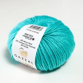 """Пряжа """"Baby Wool XL"""" 20% кашемир, 40% меринос. шерсть, 40% акрил 100м/50гр (832 св. бирюз.) - фото 7278237"""