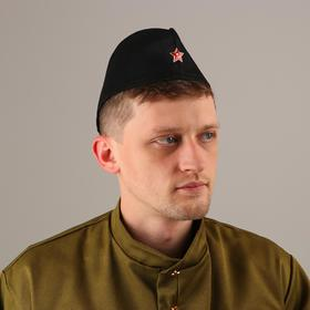 Forage cap with a star, head circumference 54-57 cm, color black
