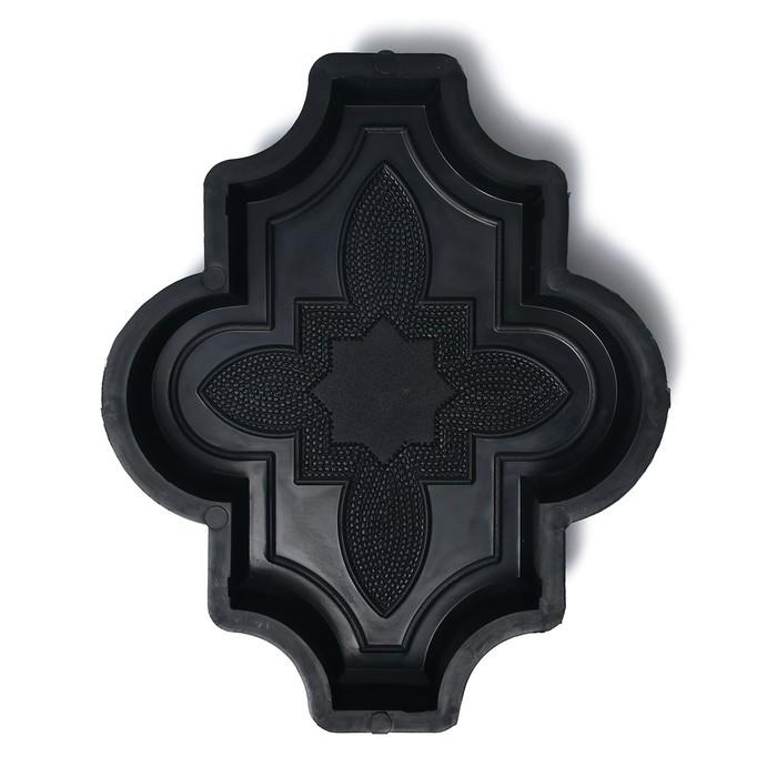 Форма для тротуарной плитки «Клевер», 26.7 × 21,8 × 4.5 см, узорный, Ф31016