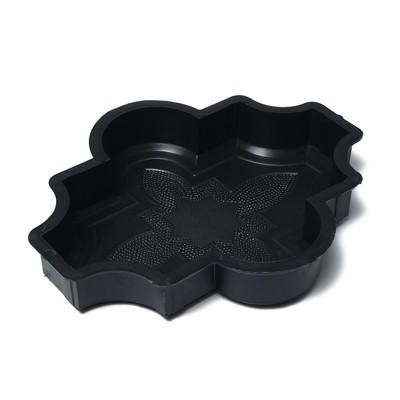 Форма для тротуарной плитки «Клевер», 26.7 × 21,8 × 4.5 см, узорный, Ф31016, 1 шт