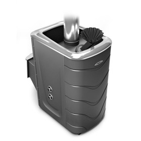 Печь для бани ТМФ Гейзер 2014 Inox, нерж.дверца, закрыткая каменка, теплообменник, антрацит