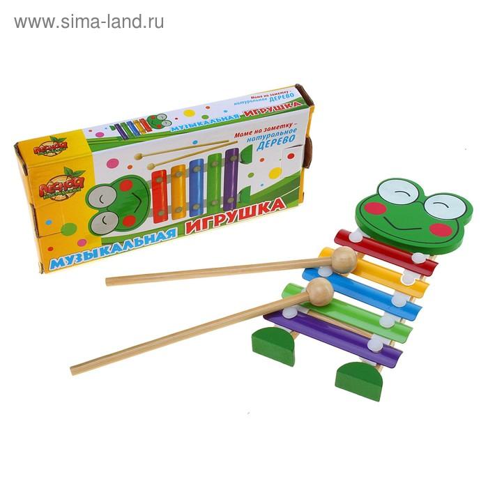 """Музыкальная игрушка-металлофон """"Лягушка"""", 5 тонов"""