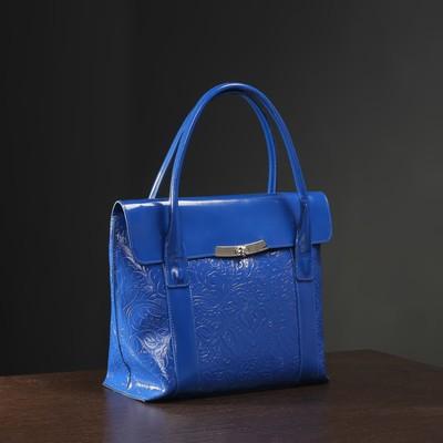 8382f8a378e5 Сумка женская, отдел с перегородкой на молнии, наружный карман, цвет синий