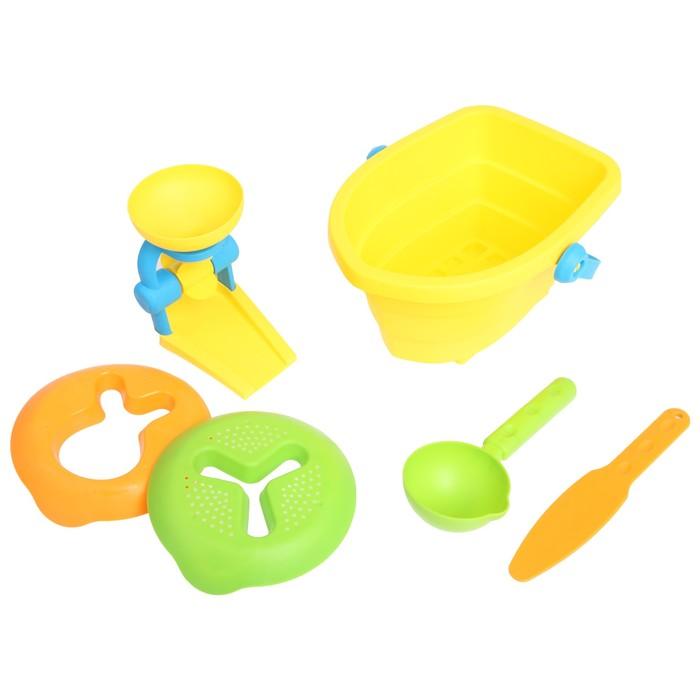 Песочный набор «Лодочка», 6 предметов, МИКС - фото 1062874