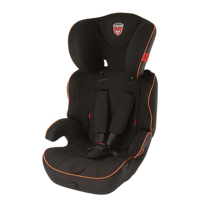 Автокресло-бустер «Лазурит Mini», группа 1-2-3, цвет оранжевый/чёрный