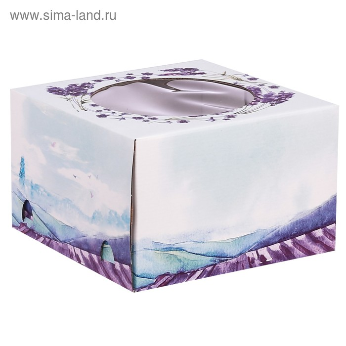 Коробка для торта «Твой день», 25 × 25 × 10 см