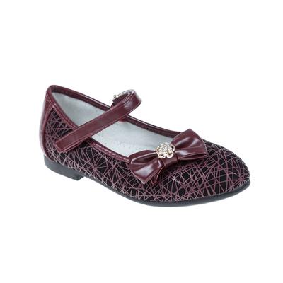 Туфли дошкольные SC-21033 (бордовый) (р. 25)