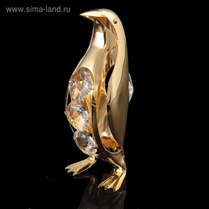 Сувенир «Пингвин», 3х3,5х8,5 см, с кристаллами Сваровски