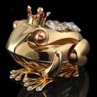 Сувенир «Лягушка», 4×6,5×4,5 см, с кристаллами Сваровски