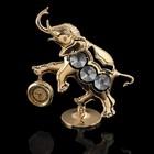 Часы «Слон», 10,5×9,5×3,5 см, с кристаллами Сваровски