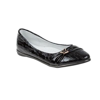 Туфли школьные для девочки SC-21453 (чёрный) (р. 34)