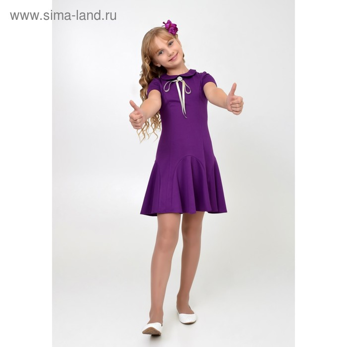 Платье нарядное для девочки, рост 134 см, цвет фиолетовый 2Т29-4