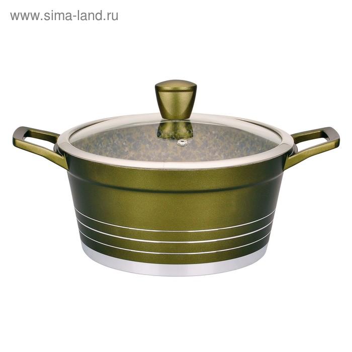 Кастрюля 6,3 л GREEN STONE с гранитным покрытием