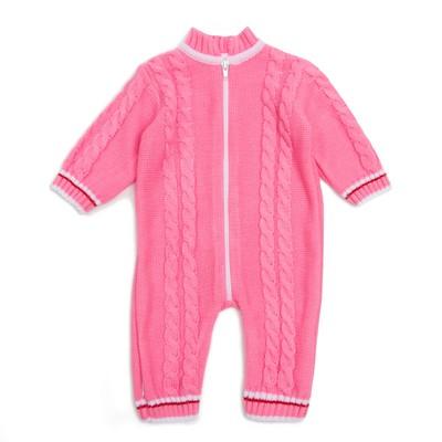 Комбинезон детский, рост 56-62, цвет розовый МИКС 1136_М