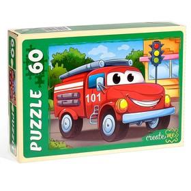 Пазл «Пожарная машинка», 60 элементов