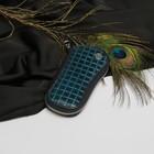 Футляр для ключей, отдел на молнии, 6 карабинов, кольцо, цвет бирюзовый