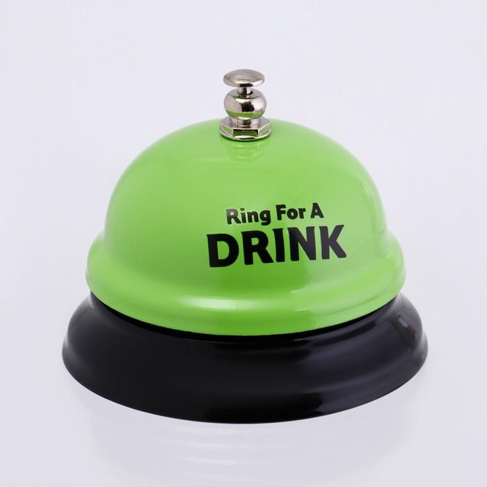 """Звонок настольный """"Время пить!"""", микс, 7.5х7.5х6.5 см"""