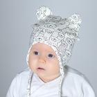 Комплект детский шапка/снуд, молочный, (В18-38млч), р-р 40-44 см