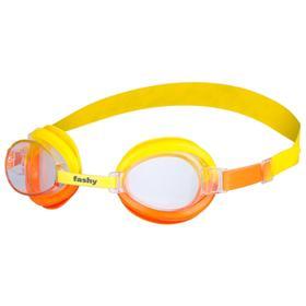 Очки для плавания детские FASHY TOP Jr, прозрачные линзы, регулируемая переносица